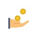 Icon für Gehalt in Brutto / Tag